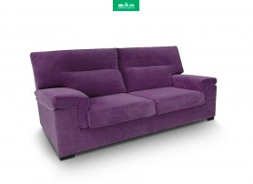 Sofá de 3 Plazas con 2 Relax con chaiselongue PIANO Trufa