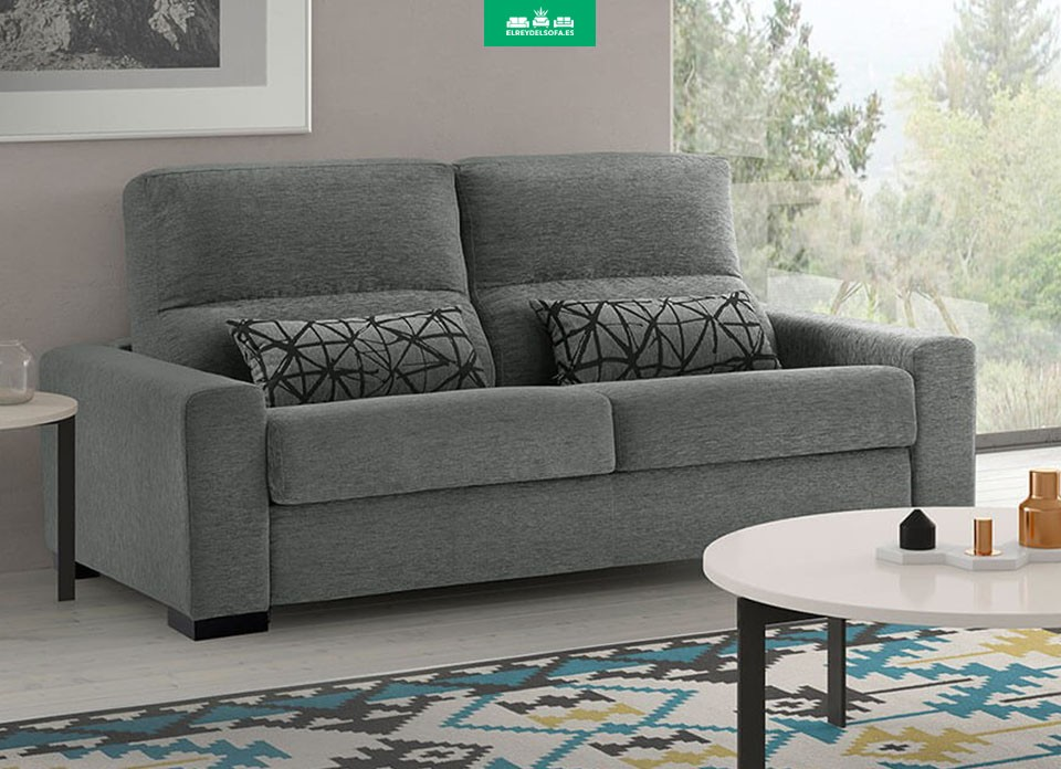 Sill n relax el ctrico roma piel combinada domus gris for Sillon relax gris