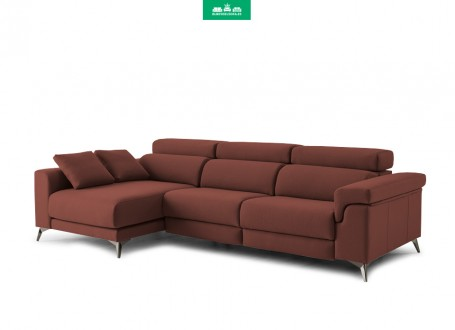 Sofá con Chaiselongue Grande DESCANSA by TOP TAPIZADOS