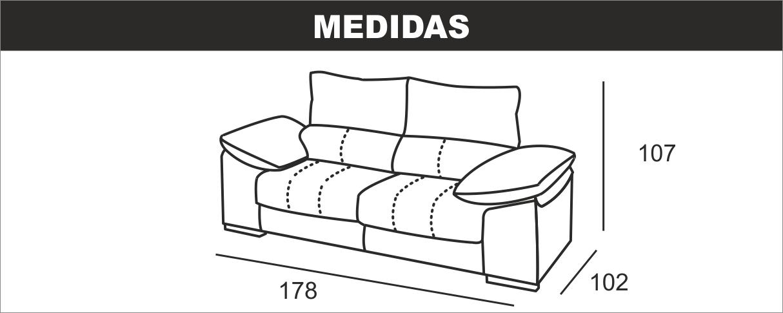 Sofá de 2 Plazas DENIA